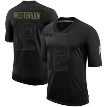 Youth Nike Jacksonville Jaguars Dede Westbrook Black 2020 Salute To Service Jersey - Limited