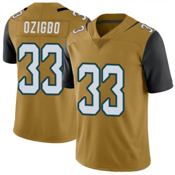 Youth Nike Jacksonville Jaguars Devine Ozigbo Gold Color Rush Vapor Untouchable Jersey - Limited