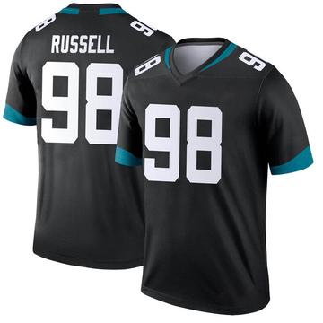 Youth Nike Jacksonville Jaguars Dontavius Russell Black Jersey - Legend