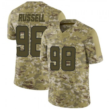 Youth Nike Jacksonville Jaguars Dontavius Russell Camo 2018 Salute to Service Jersey - Limited