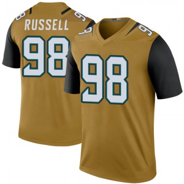 Youth Nike Jacksonville Jaguars Dontavius Russell Gold Color Rush Bold Jersey - Legend