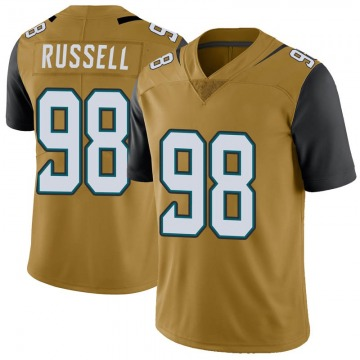 Youth Nike Jacksonville Jaguars Dontavius Russell Gold Color Rush Vapor Untouchable Jersey - Limited