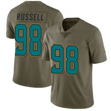 Youth Nike Jacksonville Jaguars Dontavius Russell Green 2017 Salute to Service Jersey - Limited