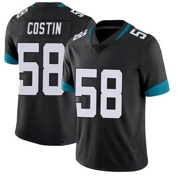 Youth Nike Jacksonville Jaguars Doug Costin Black 100th Vapor Untouchable Jersey - Limited