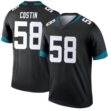 Youth Nike Jacksonville Jaguars Doug Costin Black Jersey - Legend