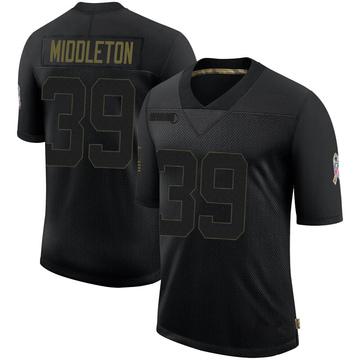 Youth Nike Jacksonville Jaguars Doug Middleton Black 2020 Salute To Service Jersey - Limited