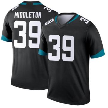 Youth Nike Jacksonville Jaguars Doug Middleton Black Jersey - Legend