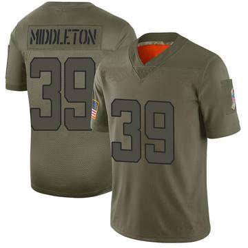 Youth Nike Jacksonville Jaguars Doug Middleton Camo 2019 Salute to Service Jersey - Limited