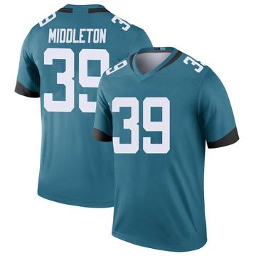 Youth Nike Jacksonville Jaguars Doug Middleton Teal Color Rush Jersey - Legend