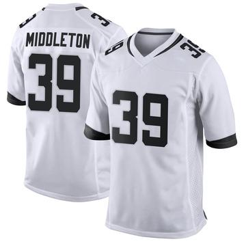 Youth Nike Jacksonville Jaguars Doug Middleton White Jersey - Game
