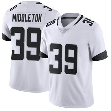 Youth Nike Jacksonville Jaguars Doug Middleton White Vapor Untouchable Jersey - Limited