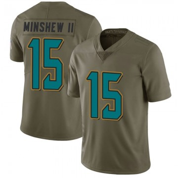 Youth Nike Jacksonville Jaguars Gardner Minshew Green 2017 Salute to Service Jersey - Limited