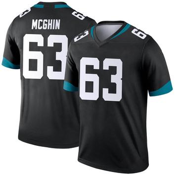 Youth Nike Jacksonville Jaguars Garrett McGhin Black Jersey - Legend