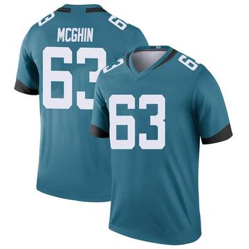 Youth Nike Jacksonville Jaguars Garrett McGhin Teal Color Rush Jersey - Legend