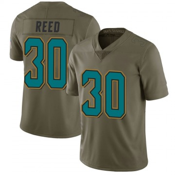 Youth Nike Jacksonville Jaguars J.R. Reed Green 2017 Salute to Service Jersey - Limited