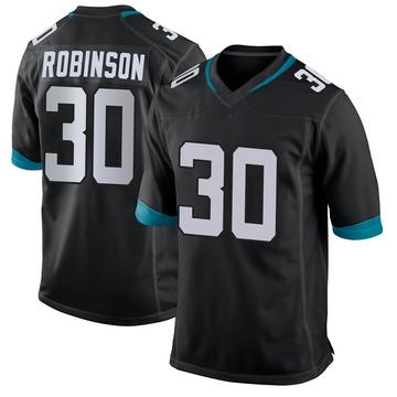 Youth Nike Jacksonville Jaguars James Robinson Black Jersey - Game