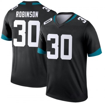 Youth Nike Jacksonville Jaguars James Robinson Black Jersey - Legend