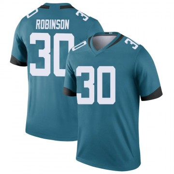 Youth Nike Jacksonville Jaguars James Robinson Teal Color Rush Jersey - Legend