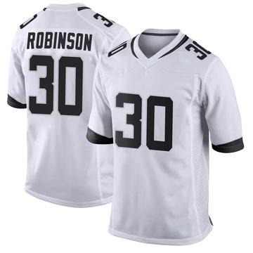 Youth Nike Jacksonville Jaguars James Robinson White Jersey - Game