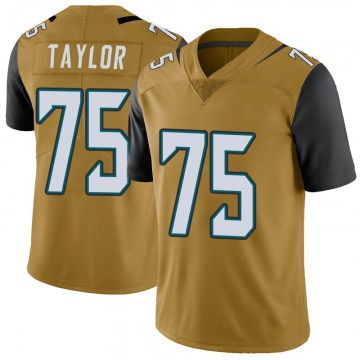 Youth Nike Jacksonville Jaguars Jawaan Taylor Gold Color Rush Vapor Untouchable Jersey - Limited