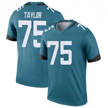 Youth Nike Jacksonville Jaguars Jawaan Taylor Teal Color Rush Jersey - Legend