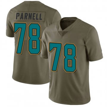 Youth Nike Jacksonville Jaguars Jermey Parnell Green 2017 Salute to Service Jersey - Limited