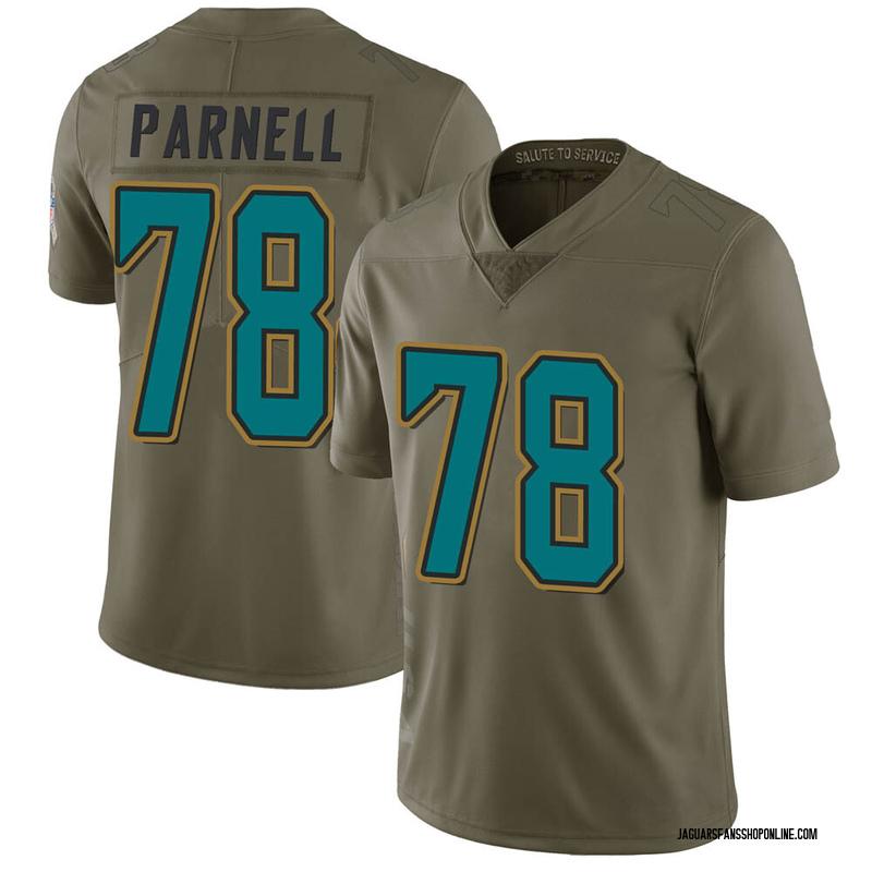 Youth Nike Jacksonville Jaguars Jermey Parnell Green 2017 Salute to Service Jersey - Limited