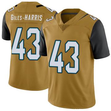 Youth Nike Jacksonville Jaguars Joe Giles-Harris Gold Color Rush Vapor Untouchable Jersey - Limited