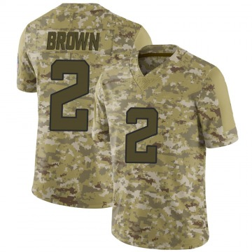 Youth Nike Jacksonville Jaguars Jonathan Brown Brown Camo 2018 Salute to Service Jersey - Limited