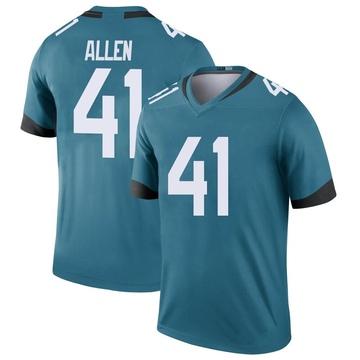 Youth Nike Jacksonville Jaguars Josh Allen Teal Color Rush Jersey - Legend