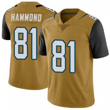 Youth Nike Jacksonville Jaguars Josh Hammond Gold Color Rush Vapor Untouchable Jersey - Limited