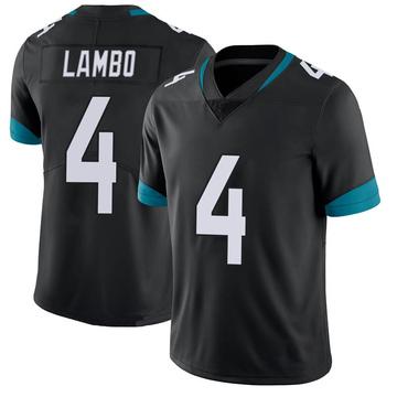 Youth Nike Jacksonville Jaguars Josh Lambo Black 100th Vapor Untouchable Jersey - Limited