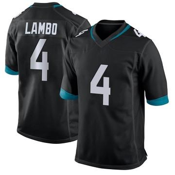 Youth Nike Jacksonville Jaguars Josh Lambo Black Alternate Jersey - Game