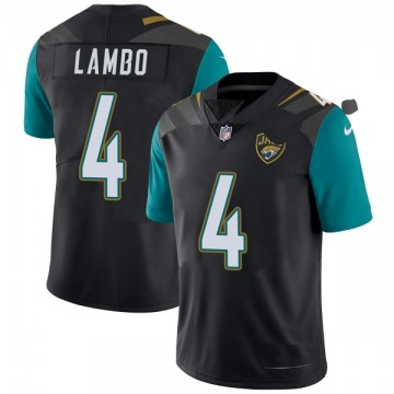 Youth Nike Jacksonville Jaguars Josh Lambo Black Vapor Untouchable Alternate Jersey - Limited