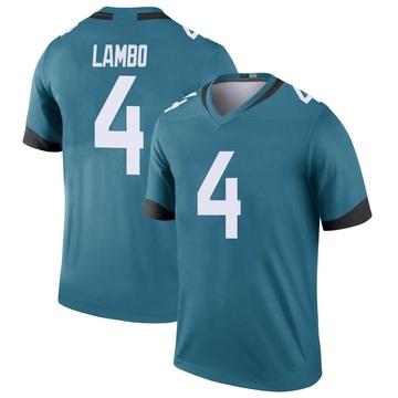 Youth Nike Jacksonville Jaguars Josh Lambo Teal Color Rush Jersey - Legend