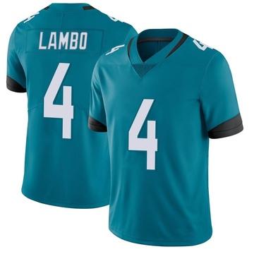 Youth Nike Jacksonville Jaguars Josh Lambo Teal Vapor Untouchable Team Color Jersey - Limited