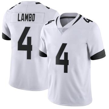 Youth Nike Jacksonville Jaguars Josh Lambo White Vapor Untouchable Jersey - Limited