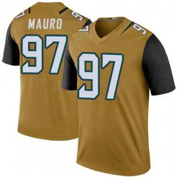 Youth Nike Jacksonville Jaguars Josh Mauro Gold Color Rush Bold Jersey - Legend