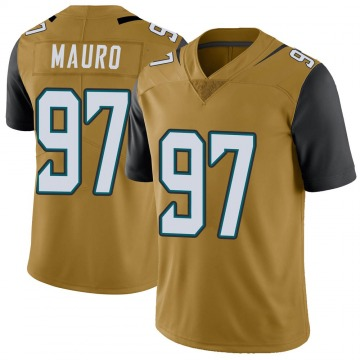 Youth Nike Jacksonville Jaguars Josh Mauro Gold Color Rush Vapor Untouchable Jersey - Limited