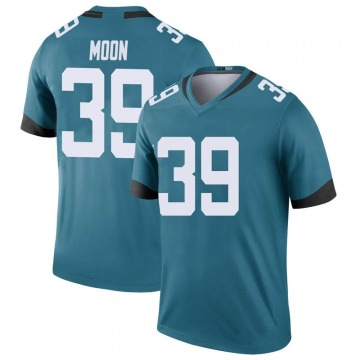 Youth Nike Jacksonville Jaguars Joshua Moon Teal Color Rush Jersey - Legend
