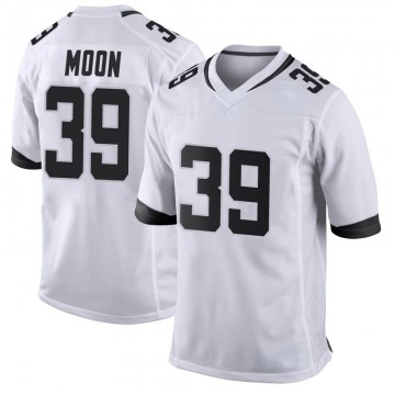 Youth Nike Jacksonville Jaguars Joshua Moon White Jersey - Game