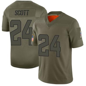 Youth Nike Jacksonville Jaguars Josiah Scott Camo 2019 Salute to Service Jersey - Limited