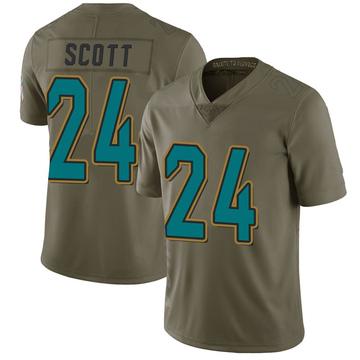 Youth Nike Jacksonville Jaguars Josiah Scott Green 2017 Salute to Service Jersey - Limited