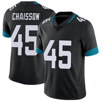 Youth Nike Jacksonville Jaguars K'Lavon Chaisson Black 100th Vapor Untouchable Jersey - Limited
