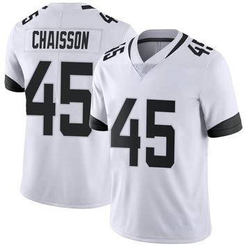 Youth Nike Jacksonville Jaguars K'Lavon Chaisson White Vapor Untouchable Jersey - Limited