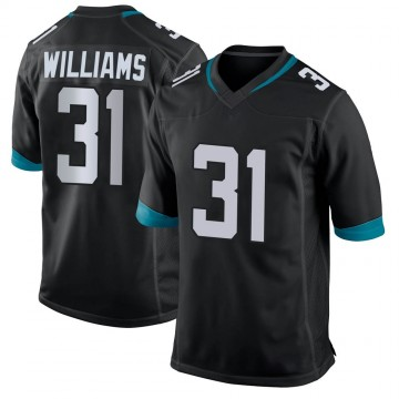 Youth Nike Jacksonville Jaguars Kobe Williams Black Jersey - Game