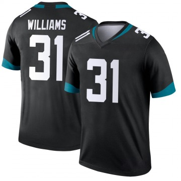 Youth Nike Jacksonville Jaguars Kobe Williams Black Jersey - Legend