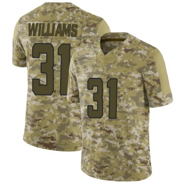 Youth Nike Jacksonville Jaguars Kobe Williams Camo 2018 Salute to Service Jersey - Limited