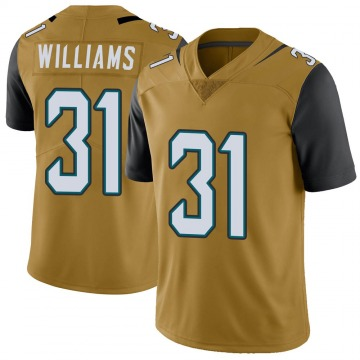 Youth Nike Jacksonville Jaguars Kobe Williams Gold Color Rush Vapor Untouchable Jersey - Limited