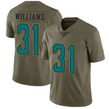 Youth Nike Jacksonville Jaguars Kobe Williams Green 2017 Salute to Service Jersey - Limited